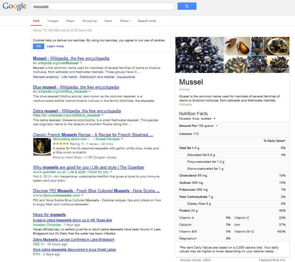 Google Semantic Mussels