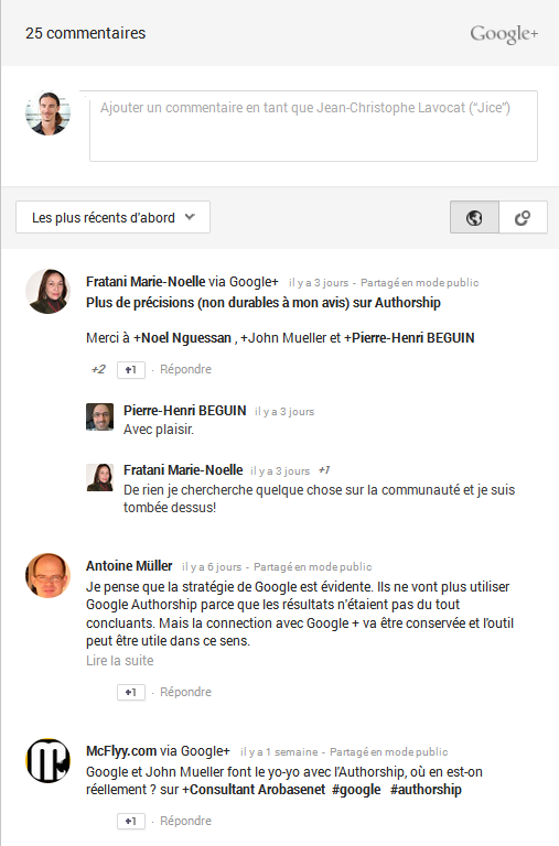 Google+ Comment Box