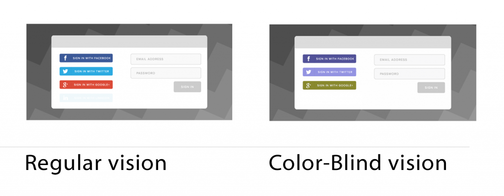 Social Login for color blind people