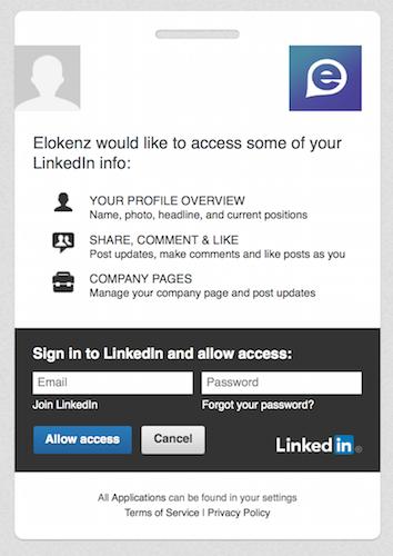 Persmission LinkedIn